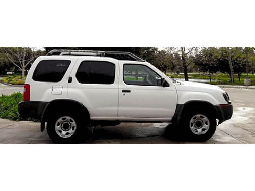 2004 NISSAN XTERRA 4dr Auto 4 cyl 24L twin cam 16V pb ps cassCD ABS AC airbags 91K mi