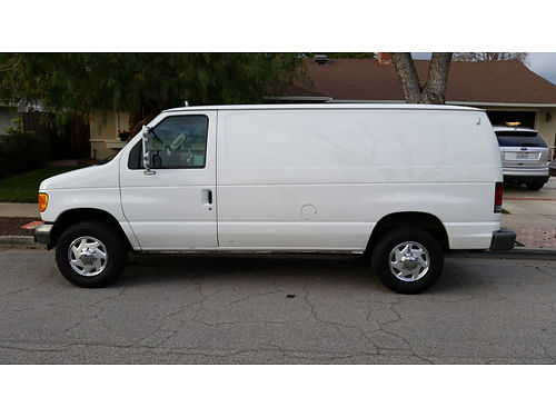 2004 FORD E250 CARGO VAN 54L V8 auto ac in dash CD acoustic insulation tie down eye bolts ne