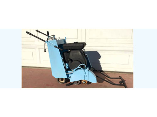 MECO CONCRETE SAW 14 Walk Behind Push Pull Start 11-Hp Gas Cuts LtRt Sides Blade Inc Works