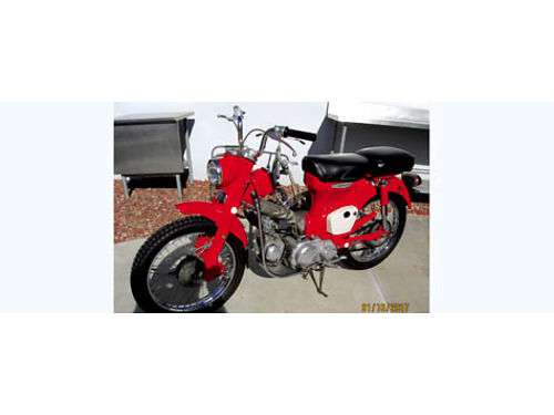 1967 HONDA CT-90 TRAIL BIKE only 763 orig miles mint cond stored all original orig key and tool
