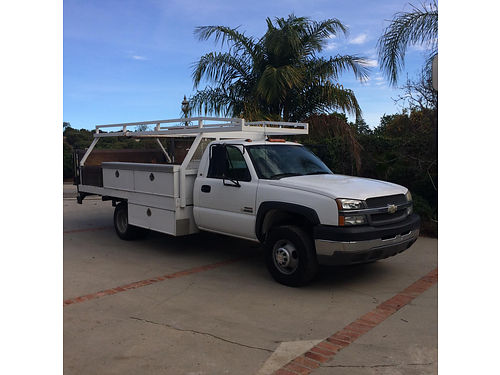 2004 CHEVY SILVERADO 3500 HD Duramax Dsl 129K mi Contractor body wracks ext long transformer b