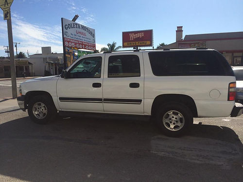 2004 CHEVY SUBURBAN - 8 pass auto dual air amfmcd tow pkg runs great 5SKM287 2999 faceb