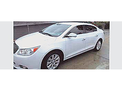 2013 BUICK LECROSSE - Original owner very clean all options white with gray leather int 15200 m