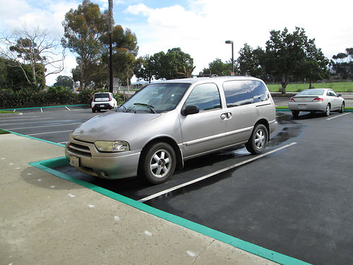 2002 NISSAN QUEST Auto V6 all power 7 pass 130K mi AC CD new tires good cond runs great s