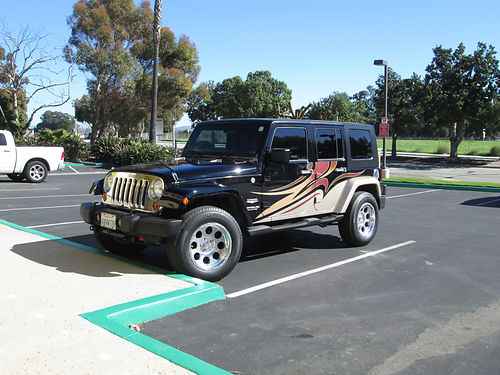 2007 JEEP WRANGLER SAHARA 4 WD Unltd GPS 4dr auto 38L 71935 mi new tires extra chrome add