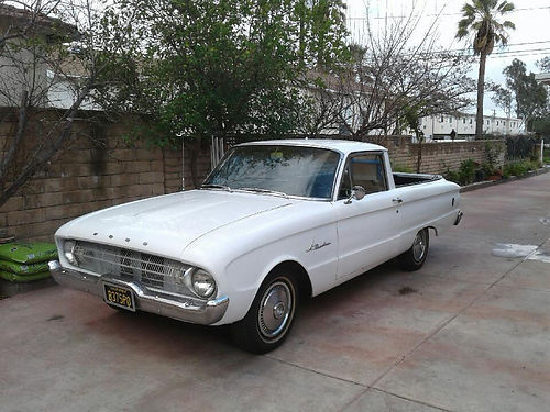 1961 FORD RANCHERO 208 eng auto original hub caps new carb tires interior and paint only orig