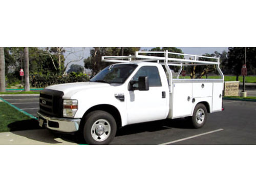 2009 FORD F250 XL SD NEW Royal Utility body wRhino spray on bed  diamond plate edges Auto V8