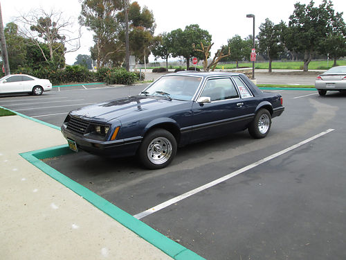 1981 FORD MUSTANG auto 6cyl 76K orig miles just spent 4K on car I have receipts dark blue 2n