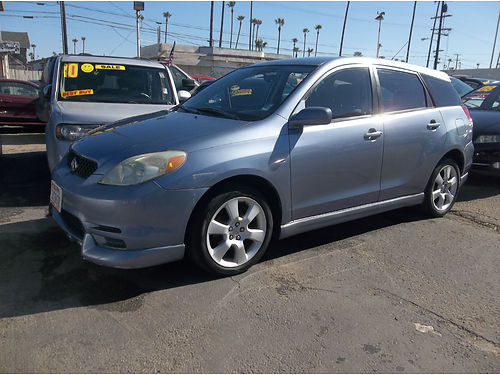 2004 TOYOTA MATRIX XR - Extra sporty  luxury 4cyl gas saver 5spd all power ac stereo cd  mor