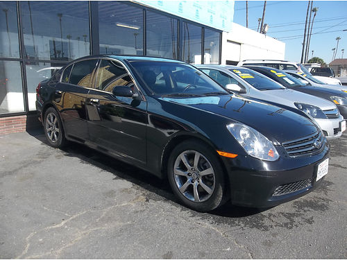 2005 INIFINITI G35 - Super luxury fully loaded lthr alloys stereo CD  more Extra clean conditi
