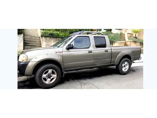 2002 NISSAN FRONTIER CREW CAB 4X4 Supercharged auto V6 all pwr AC CD bedliner 119K mi well