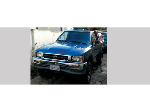 1994 TOYOTA PICKUP 4X4 5 spd 6cyl 30L reblt eng new tires clean inside  out undiagnosed tra