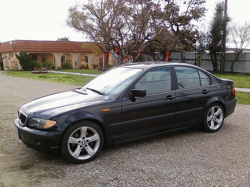 2004 BMW 325I auto blk smogged AC all pwr sunroof 4dr CDMP3 stereo nice wheels reg to 12