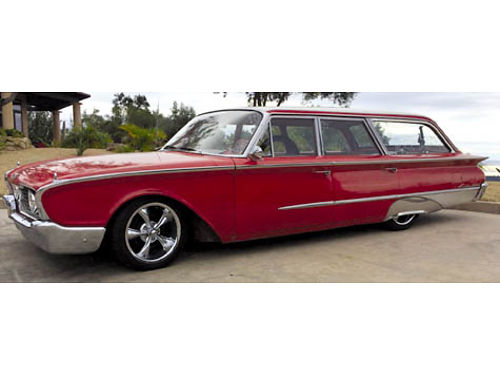 1960 FORD COUNTRY SEDAN WAGON Must see Barn Find All orig dealer plastic covers AC 54K miles O