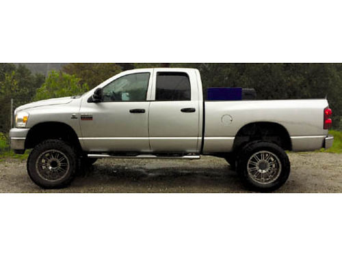 2008 DODGE RAM 2500 CREW CAB 4WD diesel all extras lifted 68K miles new turbo  manifold 40