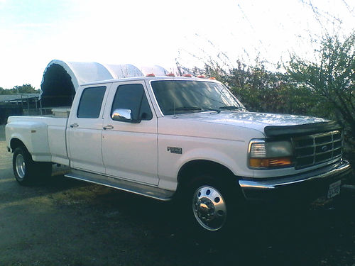 1995 FORD F350 CREW CAB DUALLY XLT new tires brakes Gooseneck tow pkg chrm rbrds alum whls