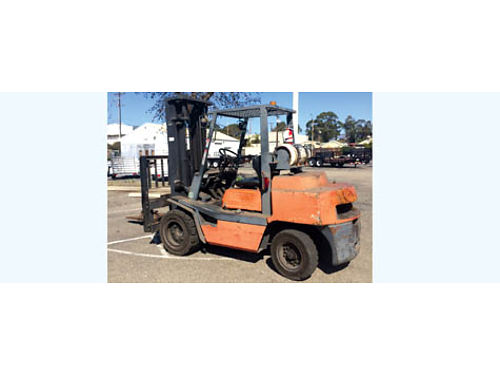 USED TOYOTA INDUSTRIAL RIDE ON FORKLIFT 02-3FG35 LPG pneumatic drive automatic transmission pow