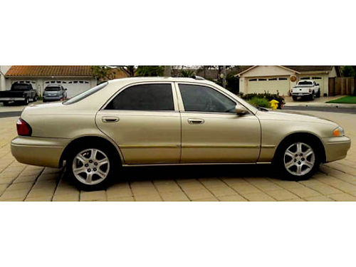 2001 MAZDA ES626 4dr 25L V6 auto OD pw pdl AC ps pb alarm smog cert dual pm ABS CDcas