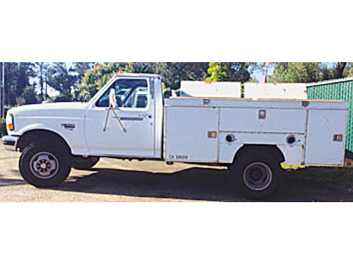 1997 FORD F350 XL 73 Dsl 4x4 Smog exempt tow pkg 2 new batt runs perfect Currently non op