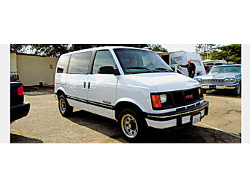 1994 GMC SAFARI - 8 passenger one owner local county maintained low low miles for year AC CC t