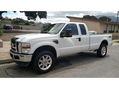 2008 FORD F350 EXT CAB XL 4x4 auto V10 bedliner tow pkg toolbox 150 gal fuel cell fully load