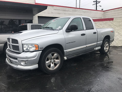 2004 DODGE RAM 1500 SLT - 4dr quad cab HEMI sport fpwr ready  roomy for family strong working