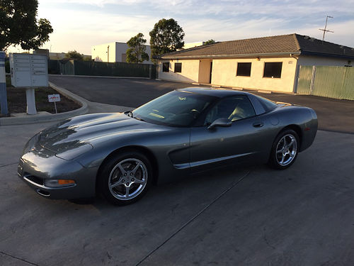 2003 CHEVY CORVETTE ANNIVERSARY Edition Spiral Gray lthr prem sound sys chrm whls alarm Air A