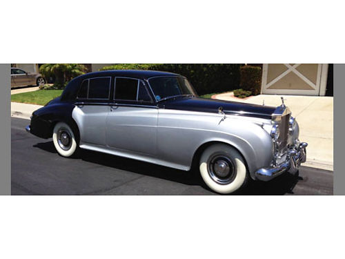 1961 ROLLS ROYCE SILVER CLOUD II blk over silver rt hand driver auto v8 orig cond owner for 33