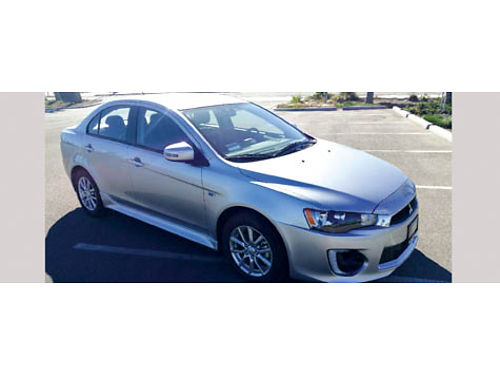 2016 MITS LANCER ES auto 4cyl 4dr fully loaded AC CD alarm 224 miles - brand new Won in gam
