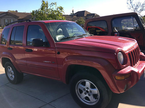 2002 JEEP LIBERTY complete reblt eng radiator runs good etc 4800 obo