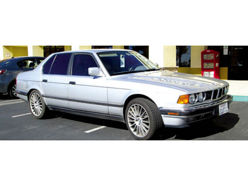 1991 BMW 735I auto straight 6 lthr sunroof all power AC new aftermarket 18 Euro spoke whls w