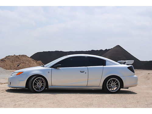 2005 SATURN ION SUPERCHARGED manual 5 spd cust whls wnew Michellins DVDGPS 4dr rare in this mo