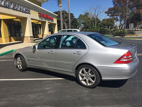 2004 MBZ C230 Kompressor auto SS 4 cyl Immac 1 owner Sta Monica car garaged maint by Simondson