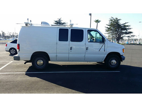 2002 FORD E250 CARGO VAN 101K mi new tires shocks wheel bearings solar coil packs fully insul