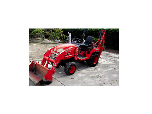 KUBOTA BX24 BACKHOE plus loader diesel hydrostatic trans 4x4 ps quick attach backhoe  frnt lo