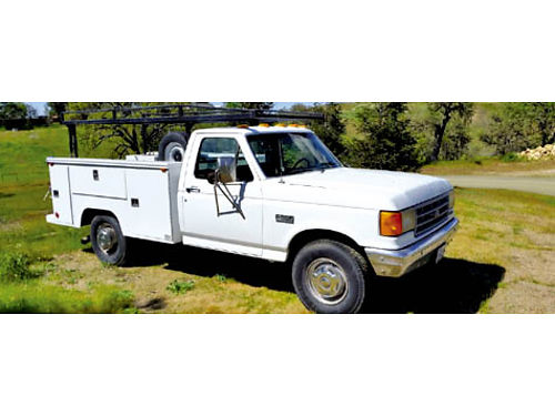 1992 FORD F350 1 TON UTILITY TRUCK- clean very good truck for service or construction 73L Diesel