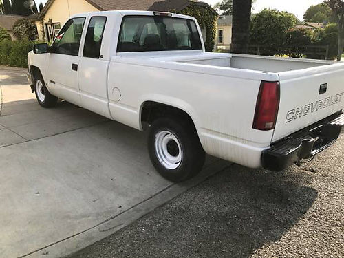 1997 CHEVY SILVERADO 1500 EXT CAB 43L auto runs great toolbox tow pkg clean title text or ca