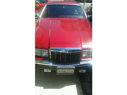 1990 LINCOLN CONTINENTAL LSC good condition safe comfortable 1500 obo