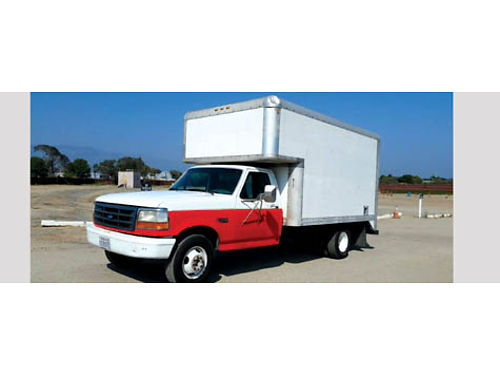 1994 FORD 350 XL BOX TRUCK 12 Box auto 8 cyl runs good AC dual axle GVW 4 tons rear ramp t