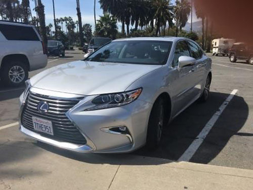 2016 LEXUS ES300H Metallic Silver auto lthr Navi CDDVDBluetooth back up camera snrf 6500