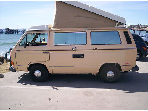 1985 VW WESTFALIA second owner newer eng wapprox 30K mi new brakes tires  tune up runs  driv