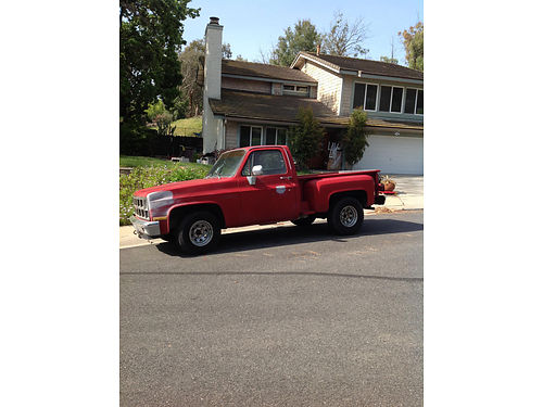 1981 CHEVY STEPSIDE Classic auto V8 new GM crate 350 eng rust free on perfect body runs great