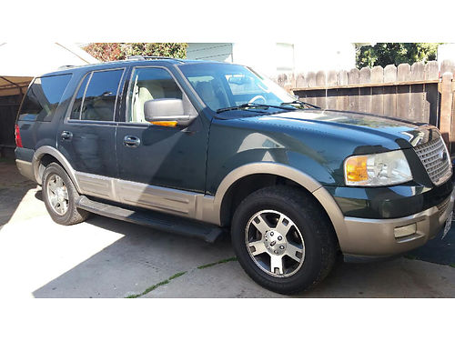 2003 FORD EXPEDITION Eddie Bauer 77K mi auto 46L lthr runs great 3rd seat all power AC CD