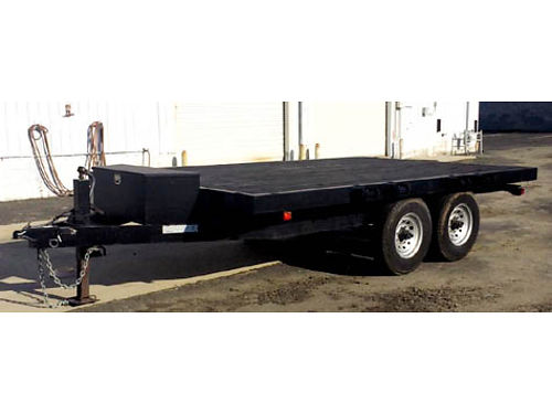 PRE OWNED CARSON FB142 TRAILER -Tandem axle brakes on both axles includes toolbox 85 X 14 Dea