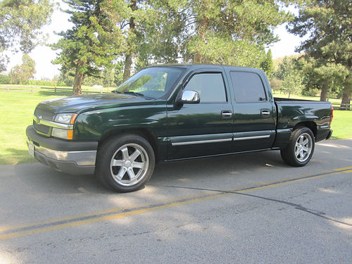 2004 CHEVY SILVERADO 1500 CREW CAB 4dr V8 53L auto ac cd 118K mi smogged very clean in and