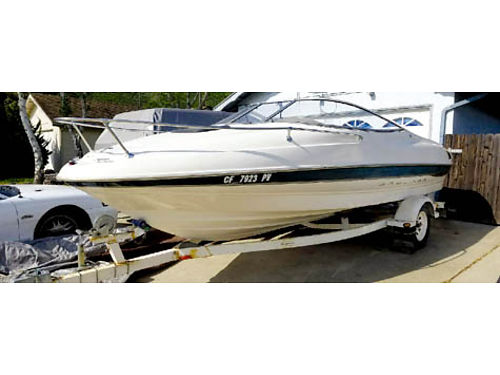 2001 BAYLINER CUDDY - 20 Merc cruiser V-8 nice boat lake ready raft camping equipment life ja