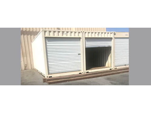 STORAGE CONTAINER NEW 20 roofs coated white  metal roof vents installed keeps unit contents coole