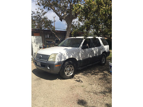 2002 MERCURY MOUNTAINEER auto V6 3rd seat all pwr AC great paint good tires CD needs some e