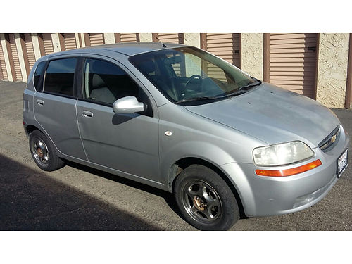 2006 CHEVY AVEO LS 140K miles 4 cyl auto 4 door good cond 2500 obo please no offers over the