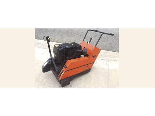 CORECUT CONCRETE ROAD SAW 18 Walk Behind Push Or Self Propelled FwdRev 14-Hp Gas Pull Start Works